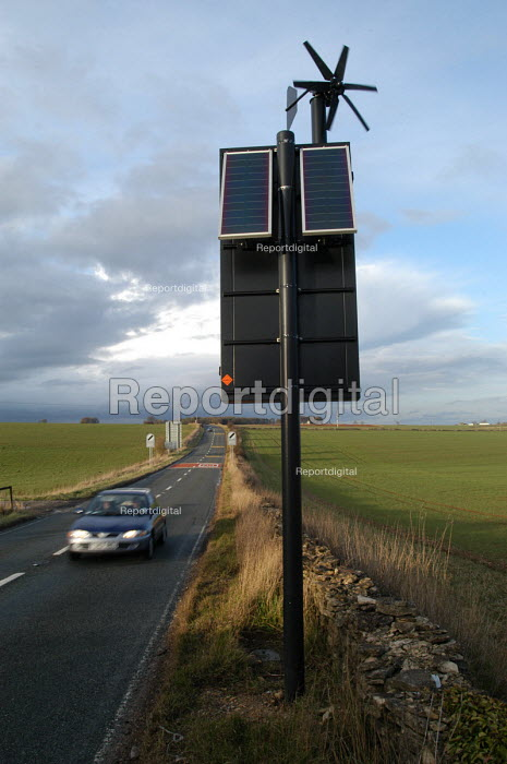 A solar powered road sign. - Paul Box - 2004-07-02