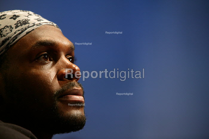 Audley Harrison , professional boxer and winner of Gold medal at the 2000 olympics. - Paul Box - 2004-08-02