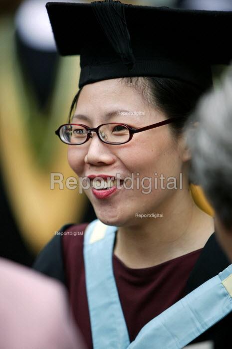 A Japanese student at a graduation ceremony, Bath. - Paul Box - 2004-07-01