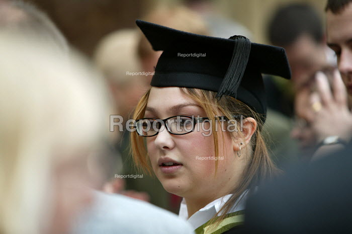 A student at a graduation ceremony, Bath. - Paul Box - 2004-07-01