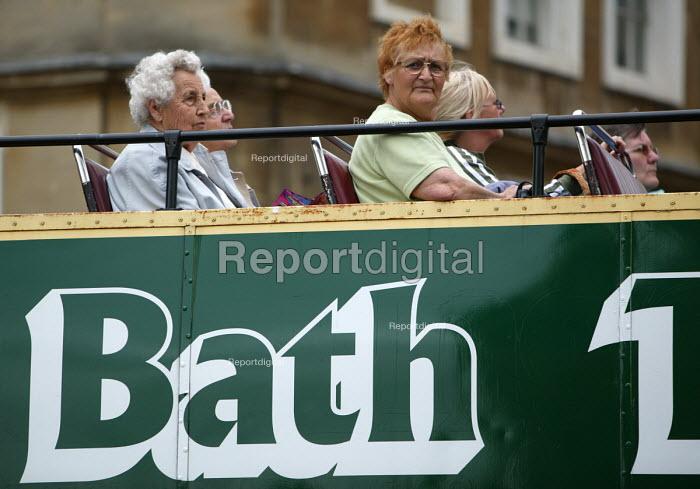 Bath tourists on an open top bus. - Paul Box - 2004-07-01