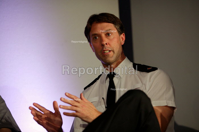 A police officerat the launch of the ASBO scheme, Bristol - Paul Box - 2004-07-05