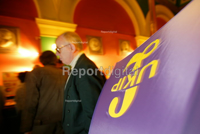 UKIP umbrella, UKIP conference. The Colston Hall, Bristol. - Paul Box - 2004-10-02