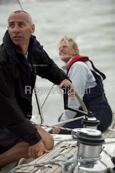 Charter yacht sailing, Cowes week, Isle of Wight - Paul Box - 2005-12-05