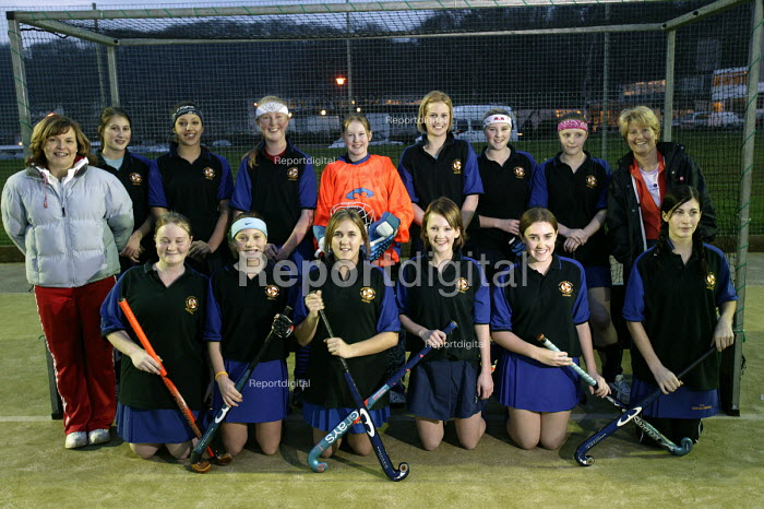 Female hockey team, Clevedon community school, Clevedon - Paul Box, PB608090.jpg
