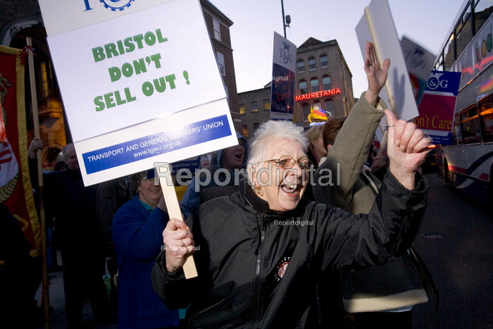 Bristol city Home care Assistants protest at Bristol's... - Paul Box, PB702003.jpg