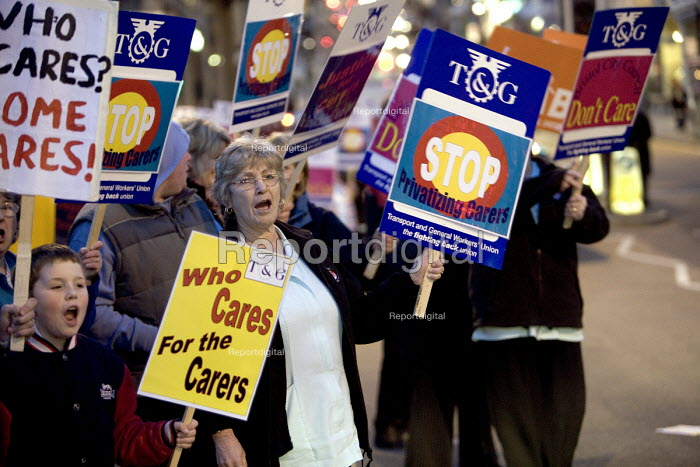 Bristol city Home care Assistants protest at Bristol's... - Paul Box, PB702009.jpg