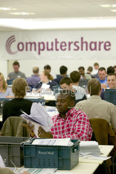 Computershare workers carrying out administration work... - Paul Box, PB708476.jpg