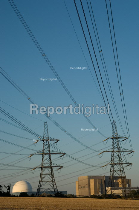 Electricity pylon and the dome of the pressurised water... - Philip Wolmuth, pw060943.jpg
