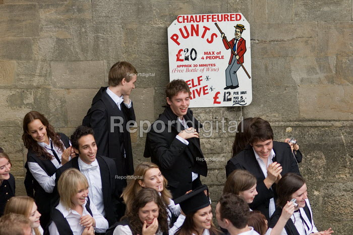 First year students at Oxford celebrate after matriculation, the ceremony which marks their formal induction into the university. - Philip Wolmuth - 2006-10-14
