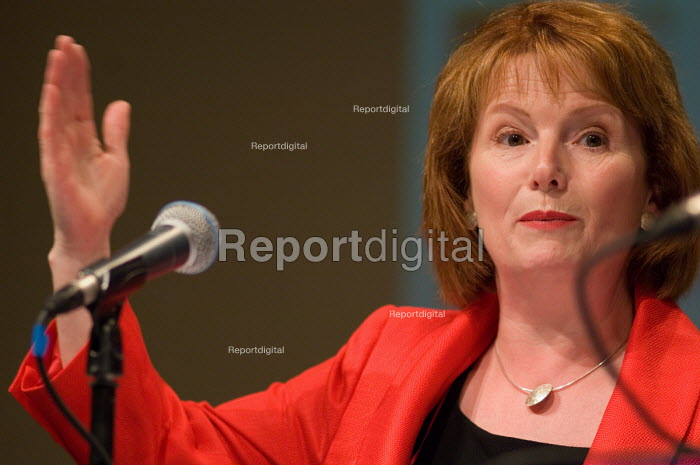 Labour Party Chair Hazel Blears MP, speaks at a Fabian... - Philip Wolmuth, pw070525.jpg