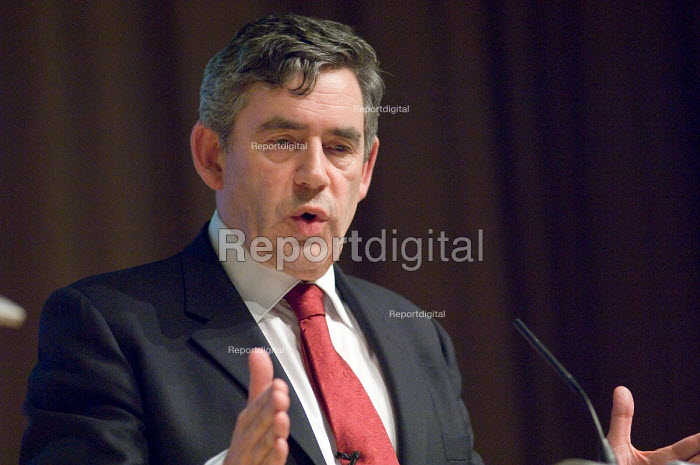 Gordon Brown MP speaking at a Labour leadership hustings... - Philip Wolmuth, pw070533.jpg