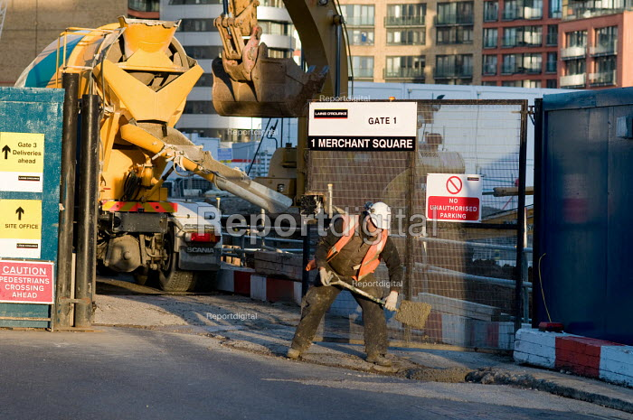 A construction worker at Market Square, part of the... - Philip Wolmuth, pw080314.jpg