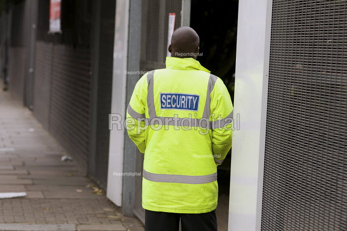 Private security guard outside City of Westminster... - Philip Wolmuth, pw080949.jpg
