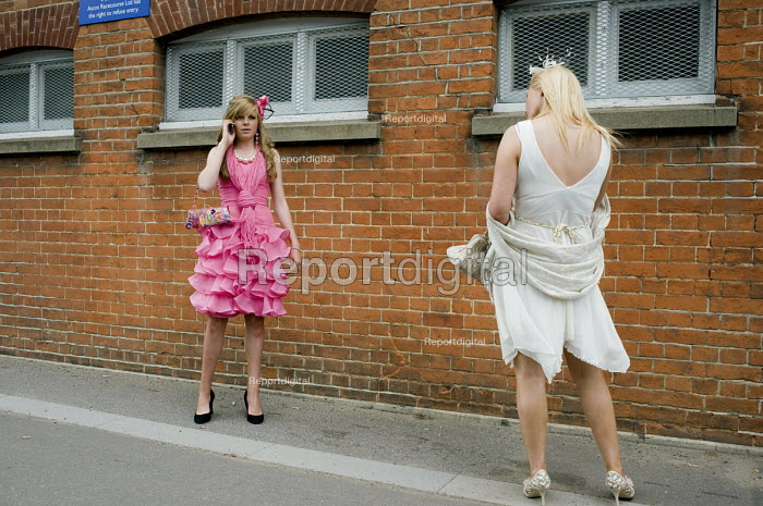 Two young women at Ascot racecourse on Ladies Day. - Philip Wolmuth, pw090607.jpg