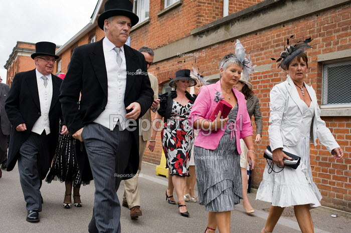 Racegoers approach the Royal Enclosure at Ascot racecourse... - Philip Wolmuth, pw090620.jpg