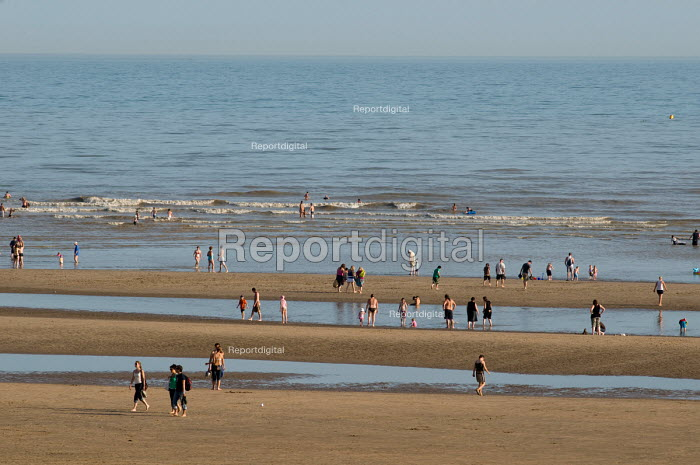 Tourists on the beach at Camber Sands, in Kent. - Philip Wolmuth, pw090839.jpg
