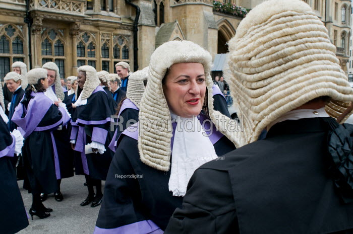 Judges wait to enter Westminster Abbey for a service to... - Philip Wolmuth, pw091014.jpg
