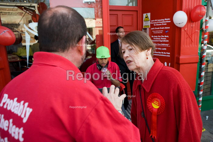 Labour MP Glenda Jackson canvasses during the 2010 General... - Philip Wolmuth, pw100429.jpg