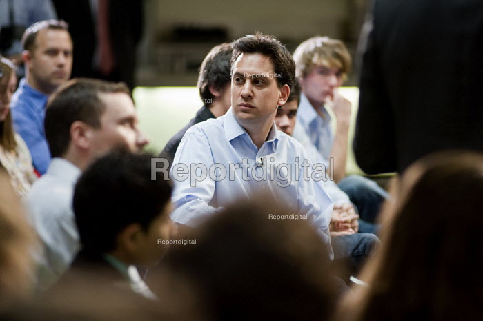 Ed Miliband MP, launch of Labour's Green Manifesto, Westminster Academy, Labour General Election Campaign, London - Philip Wolmuth - 2010-04-25