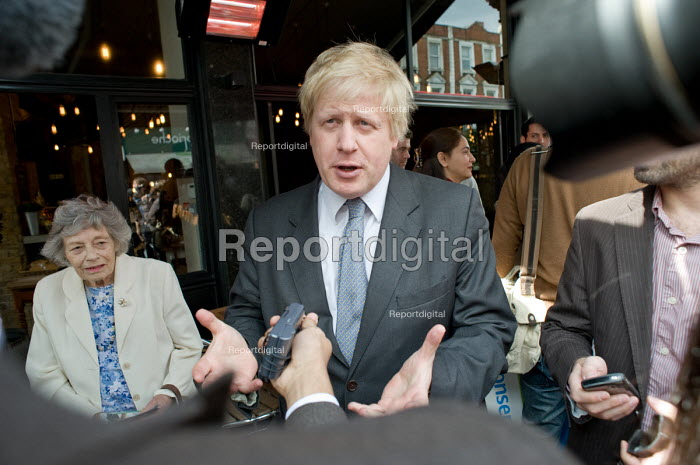 London Mayor Boris Johnson campaigns on behalf of Conservative parliamentary candidate Chris Philp in the marginal constituency of Hampstead and Kilburn. - Philip Wolmuth - 2010-04-30