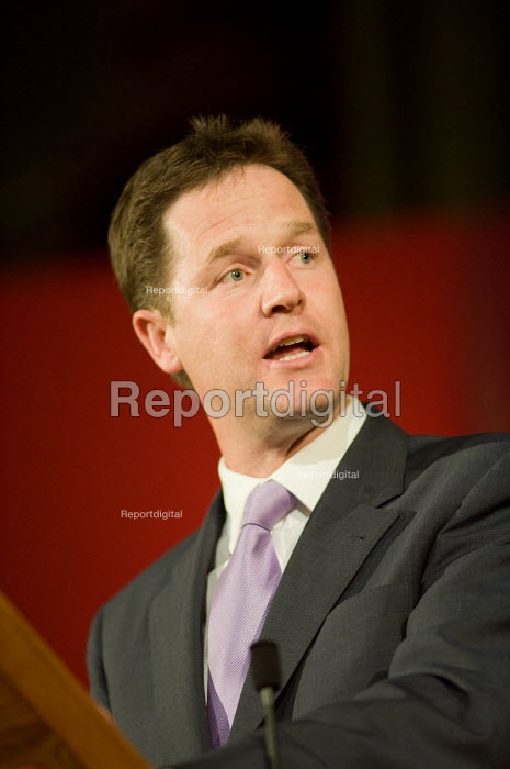 Nick Clegg, Citizens UK General Election Assembly, Central Hall, Westminster, London. - Philip Wolmuth - 2010-05-03