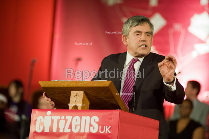Gordon Brown, Citizens UK General Election Assembly, Central Hall, Westminster, London. - Philip Wolmuth - 2010-05-03