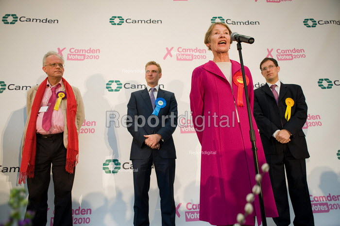 Labour MP Glenda Jackson holds the marginal seat of Hampstead and Kilburn by 42 votes in the 2010 General Election. - Philip Wolmuth - 2010-05-07