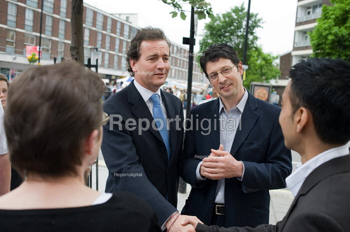 Conservative MP Nick Hurd visits projects in Church Street, London, supported by the Paddington Development Trust. - Philip Wolmuth - 2010-05-20