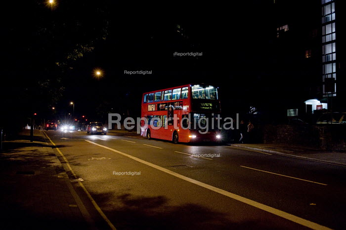 Late night bus, Cricklewood, London. - Philip Wolmuth - 2010-09-02