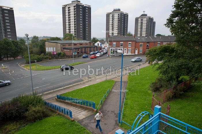 College Bank estate in Spotland and Falinge ward, Rochdale. 42.9% of working age residents in the ward claim Incapacity Benefit, the highest rate in the UK. - Philip Wolmuth - 2010-10-08
