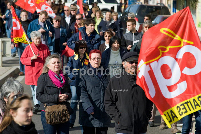 Protest in Als, in southern France against the governments proposed pension reforms. - Philip Wolmuth - 2010-10-19