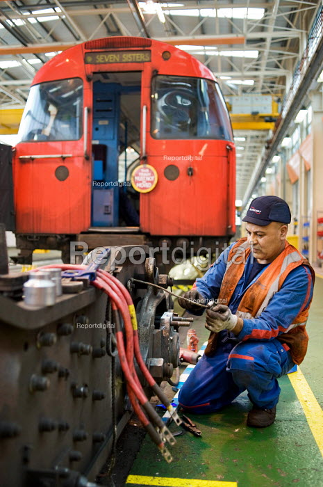 London Underground's Northumberland Park Depot, which services the 42 tube trains on the Victoria line. - Philip Wolmuth - 2009-12-03