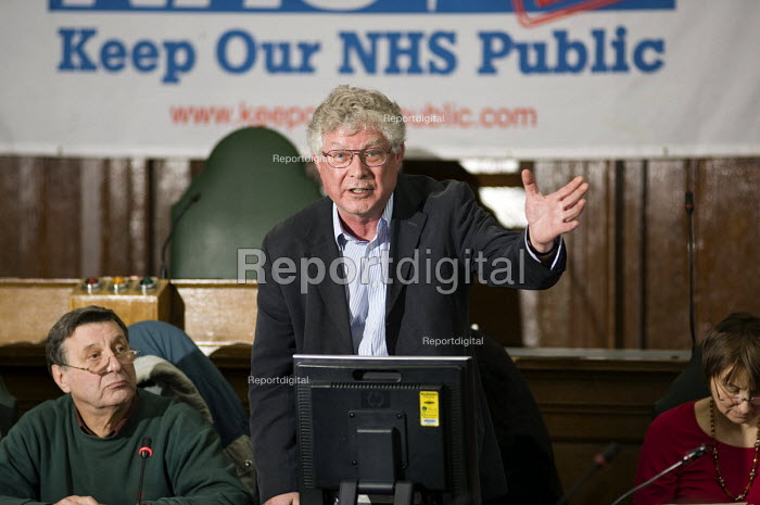 Dr John Lister, London Health Emergency, Public meeting called by Keep Our NHS Public to discuss action against the coalition government's NHS White Paper, Camden Town Hall, London. - Philip Wolmuth - 2010-11-15