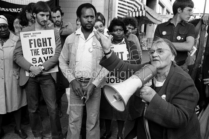 1980: Local residents join staff on a day of action over the proposed closure of St Mary's Hospital, Harrow Road, West London. - Philip Wolmuth - 1980-05-14