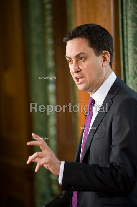 Labour Party leader Ed Miliband gives the first of his planned monthly press conferences, Westminster, London. - Philip Wolmuth - 2010-12-13