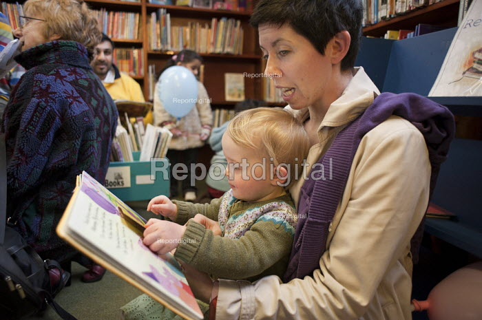 Children's Read-in at Kensal Rise library, Brent. One of six in the borough threatened with closure. - Philip Wolmuth - 2011-02-05