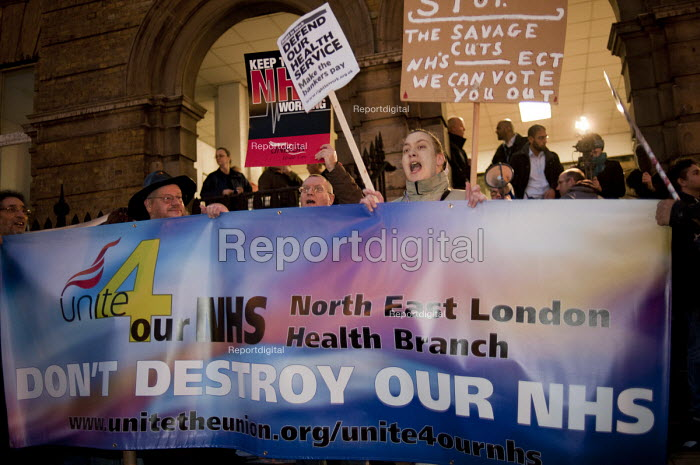 Protest against cuts at Barts and the London NHS Trust, Royal London Hospital, Whitechapel. - Philip Wolmuth - 2011-02-11