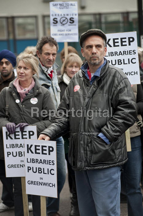 Keep libraries public. March against proposed cuts in spending by Greenwich Council, Woolwich, London - Philip Wolmuth - 2011-02-12