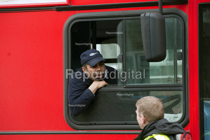 A bus driver employed by Metrobus PLC, Greenwich, London. - Philip Wolmuth - 2011-02-12