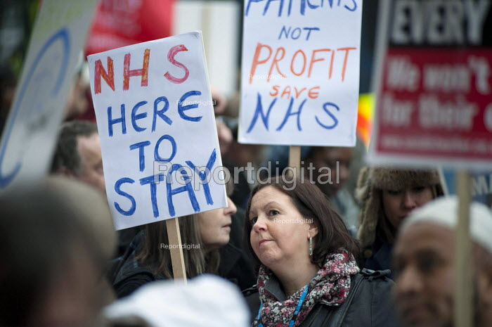 Health workers, trade unions, patients and local residents protest outside the Royal London Hospital against the Health and Social Care Bill and cuts in NHS services. - Philip Wolmuth - 2011-03-09
