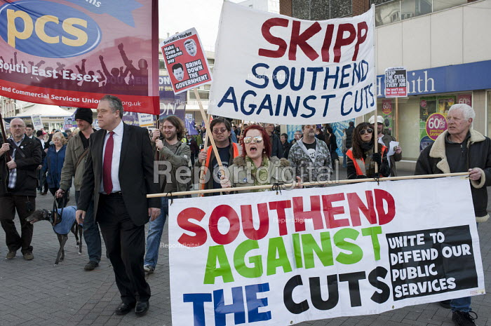 Southend Against the Cuts march, Essex. - Philip Wolmuth - 2011-03-12