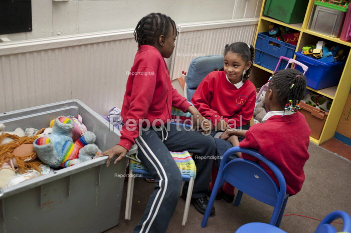 After-school club at the Winchester Project, Swiss Cottage, which may close due to cuts to Camden Council's funding. - Philip Wolmuth - 2011-03-14