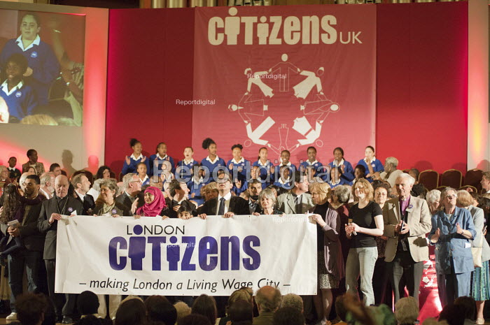 "A �Day for Civil Society"" organized by Citizens UK / London Citizens to celebrate 10 years of the Living Wage Campaign, launch a National Living Wage Foundation and call for the living wage to be adopted nationally. Central Hall, Westminster. - Philip Wolmuth - 2011-05-02"