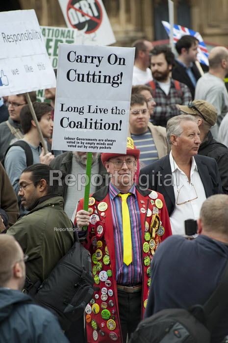Carry on Cutting! Long Live the Coalition! The Taxpayers Alliance Rally against Debt, Westminster. - Philip Wolmuth - 2011-05-14