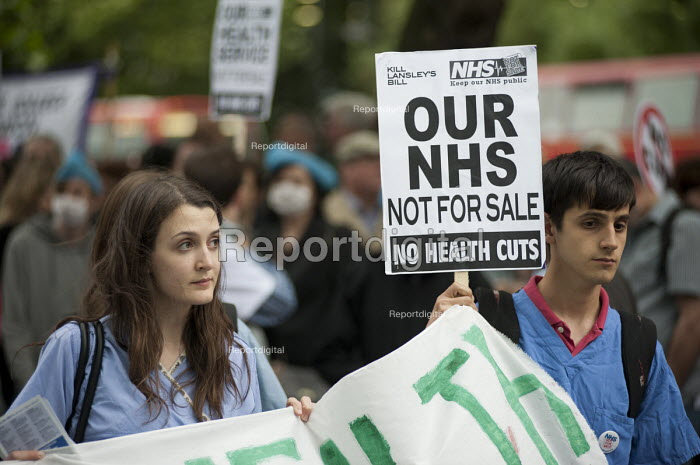 Our Health Service Not for Sale march to save the NHS, London. - Philip Wolmuth - 2011-05-17