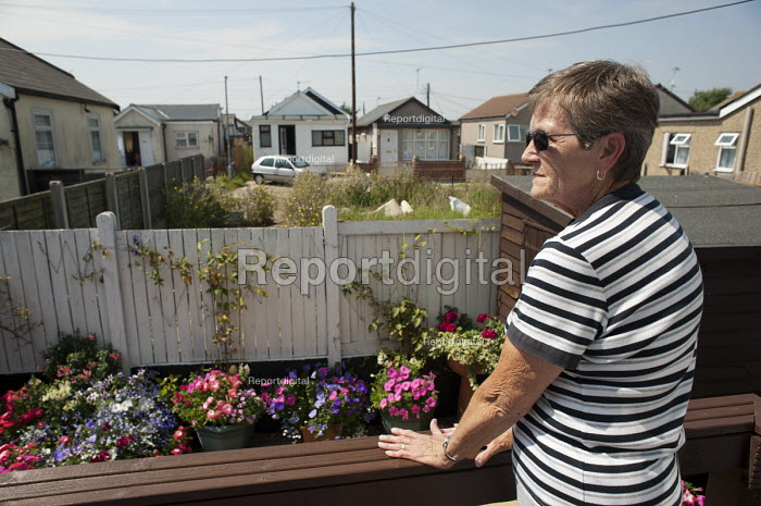 Janet Sharp in her renovated and extended bungalow on the Brooklands Estate in Jaywick Sands close to Clacton-on-Sea. It is the most deprived ward in the UK, according to the most recent Indices of Multiple Deprivation. - Philip Wolmuth - 2011-08-03