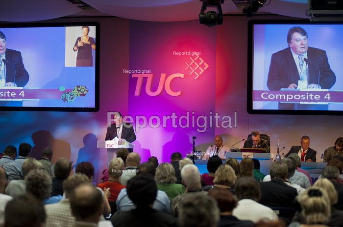 Tony Burke, Unite the Union. TUC Congress 2011 London. - Philip Wolmuth - 2011-09-12