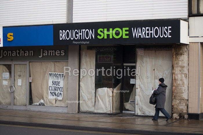Empty shoe shop in the centre of Doncaster. - Philip Wolmuth - 2011-12-09
