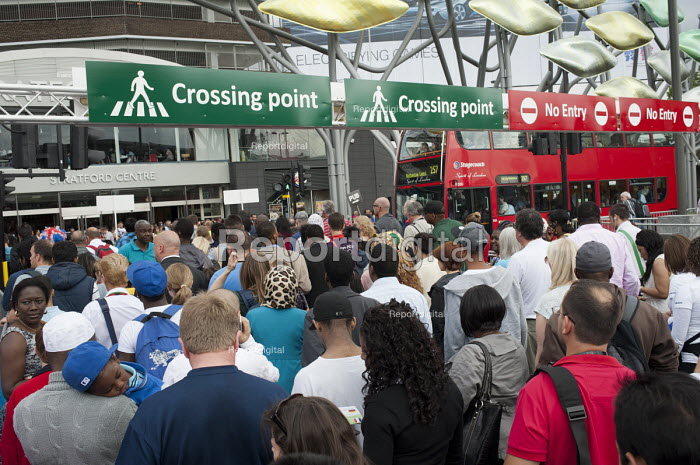 A regulated road crossing in Stratford during the London 2012 Olympic Games. - Philip Wolmuth - 2012-08-08